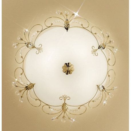 Kolarz Cornaro Crystal Ceiling Light Gold