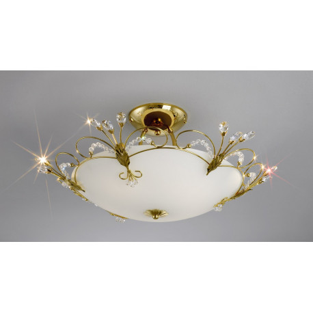 Kolarz Cornaro Crystal Suspended Ceiling Light Gold