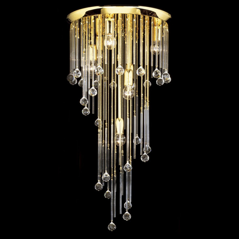 kolarz art deco crystal ceiling light gold c650 17 40 free. Black Bedroom Furniture Sets. Home Design Ideas