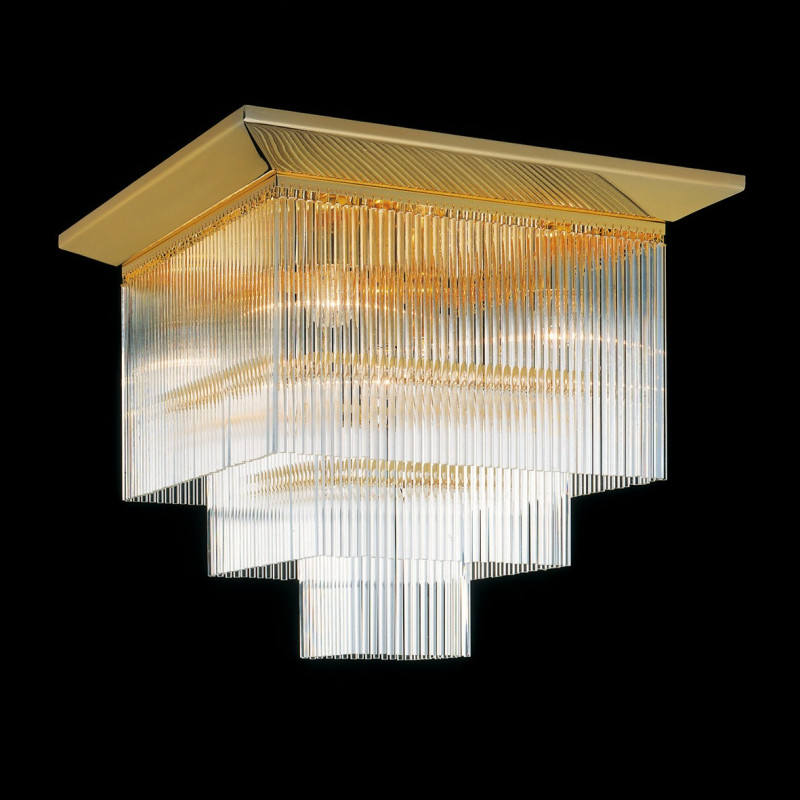 Kolarz Art Deco Square Crystal Ceiling Light C420 15 3 46