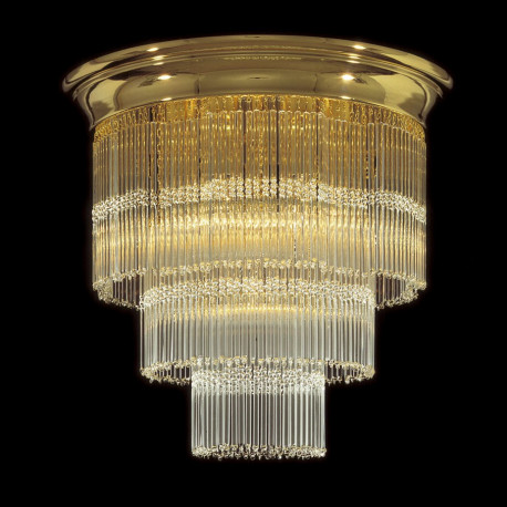 Kolarz Art Deco Crystal Ceiling Light