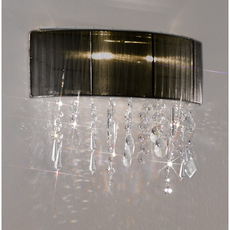Kolarz Paralume Crystal Wall Light Black