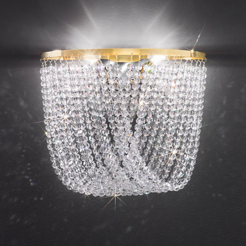 Kolarz Mystery / Cascade Crystal Wall Light