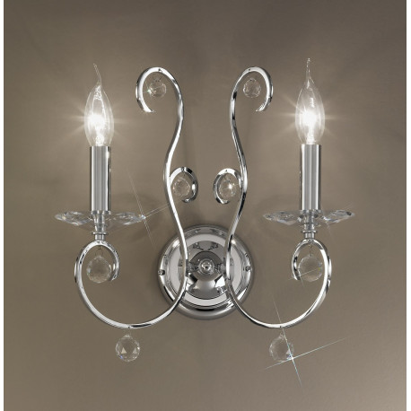 Kolarz Carat Crystal Wall Light Chrome