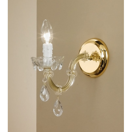 Kolarz Valerie Crystal Wall Light