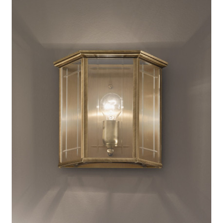Kolarz Orangerie Glass Wall Light Antique Brass