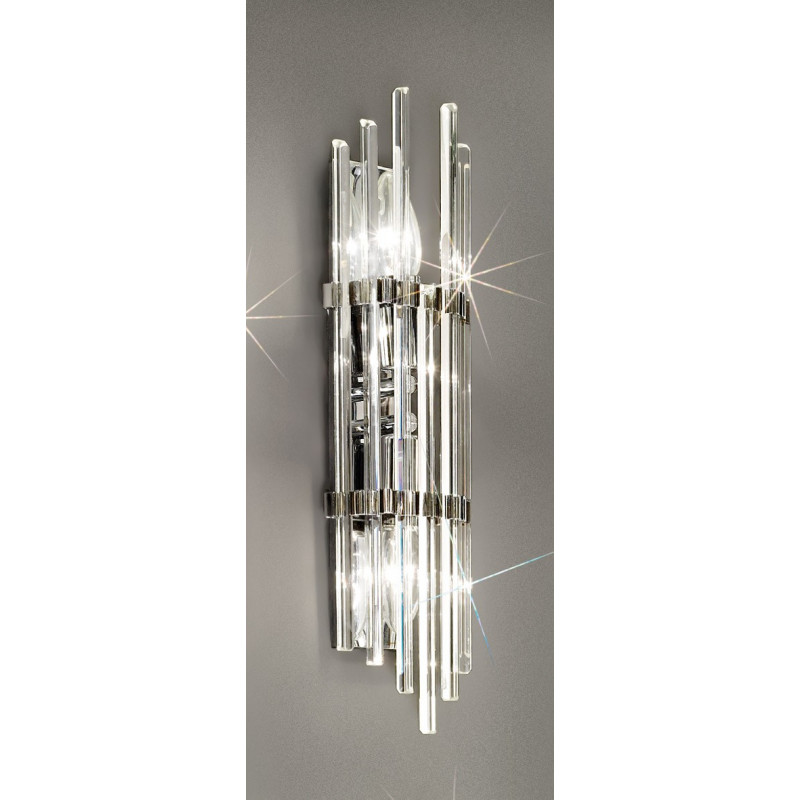 kolarz ontario crystal wall light chrome 0342 62m 5 free delivery. Black Bedroom Furniture Sets. Home Design Ideas