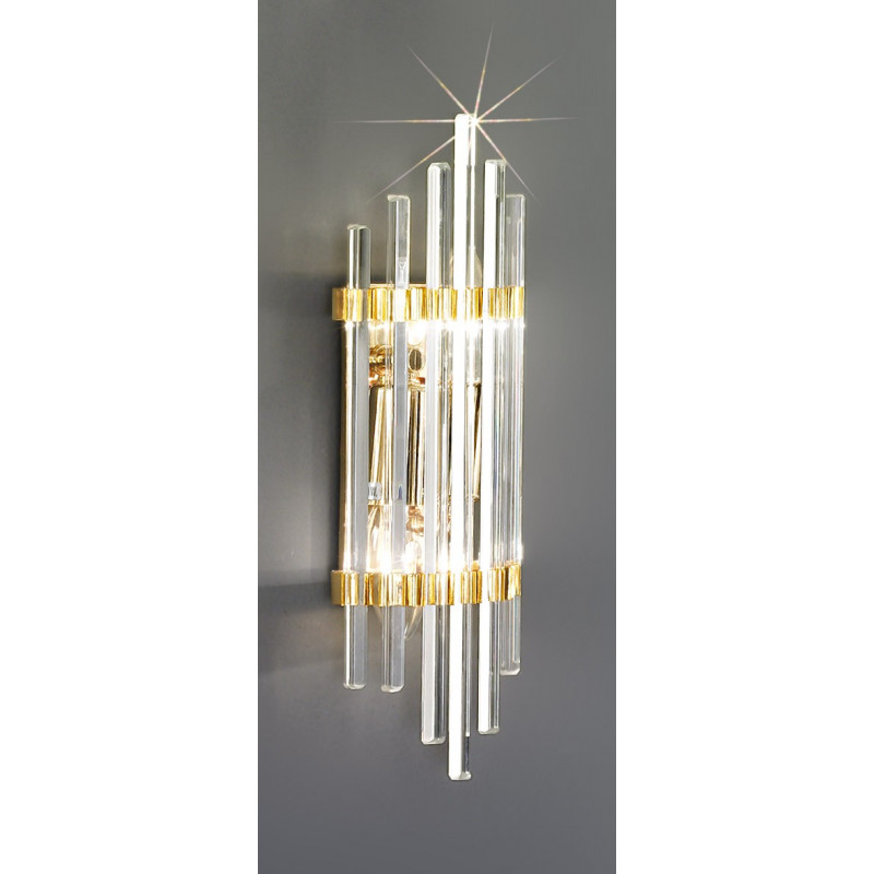 Kolarz Ontario Crystal Wall Light Gold 0342 62s 3 Free