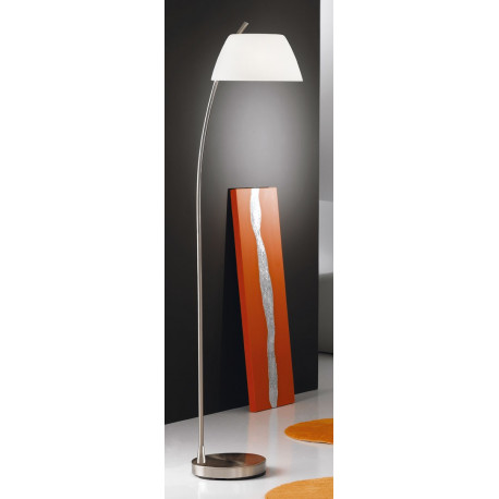 Kolarz Malmo Glass Floor Lamp Nickel