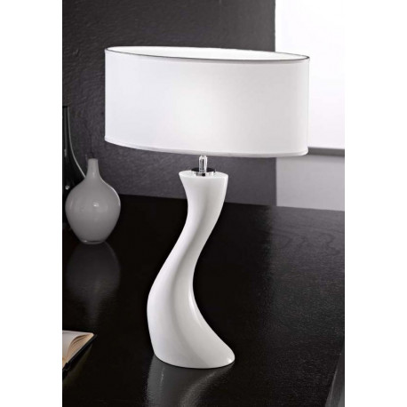 Kolarz Dali Ceramic Table Lamp White