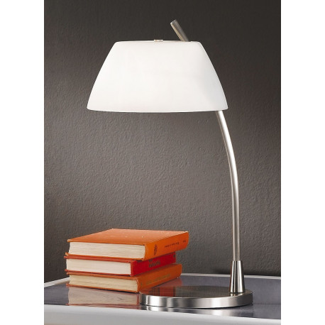 Kolarz Malmo Glass Table Lamp Nickel