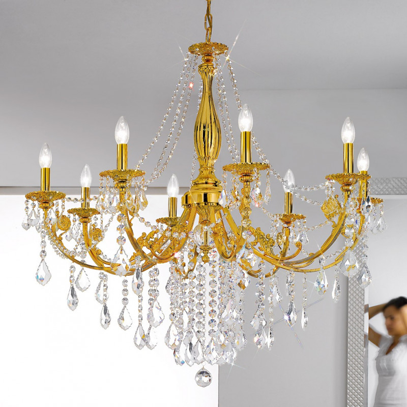 Pisani kristall chandelier french gold kolarz lighting lighting kolarz pisani kristall chandelier french gold mozeypictures Gallery