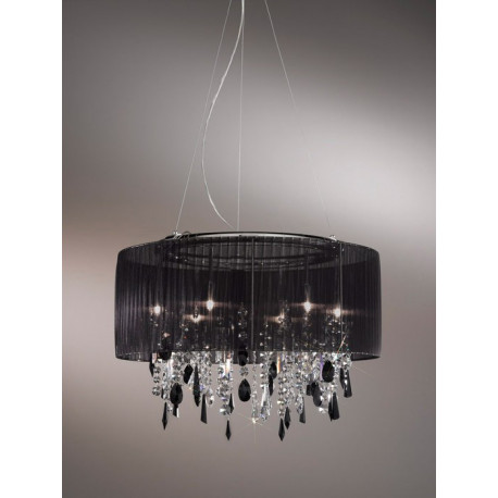 Kolarz Paralume Crystal Chandelier / Ceiling Light Black