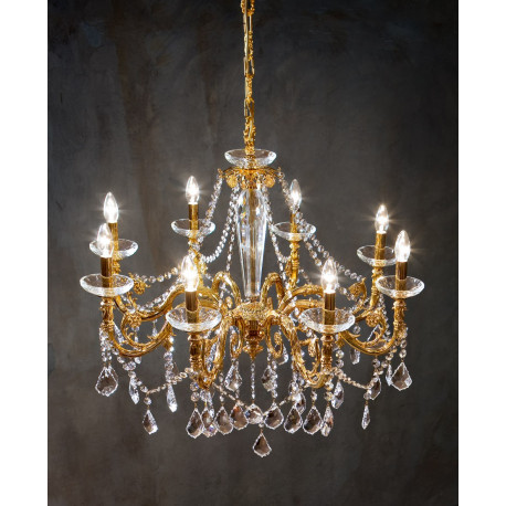 Kolarz Contarini Kristall Chandelier French Gold