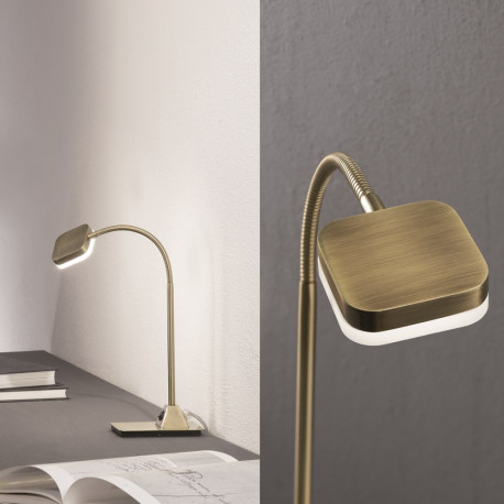 Orion Zwettl Antique Brass Table Lamp