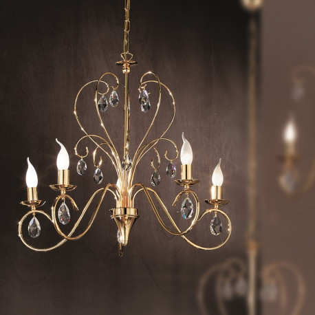 Orion Ternitz Crystal Chandelier Gold