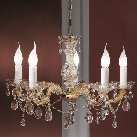 Orion Korneuburg Crystal Chandelier Gold