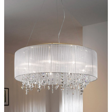 Kolarz Paralume Crystal Chandelier / Ceiling Light White