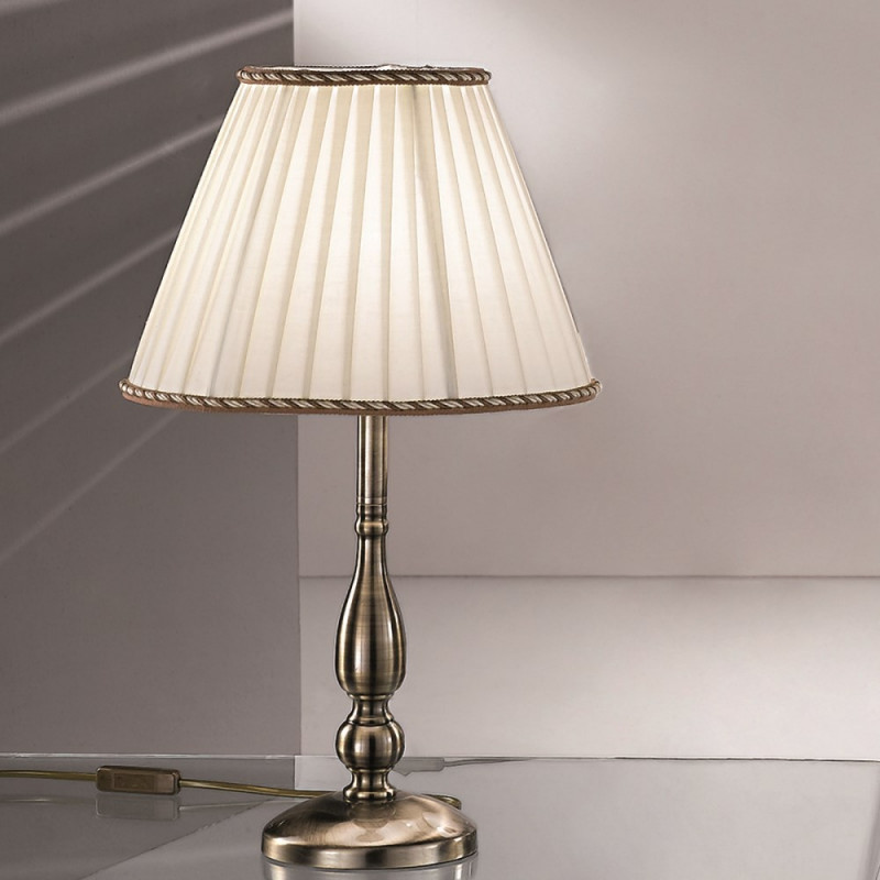 Orion Modern Table Lamp: Orion Kuhnring Antique Brass Table Lamp