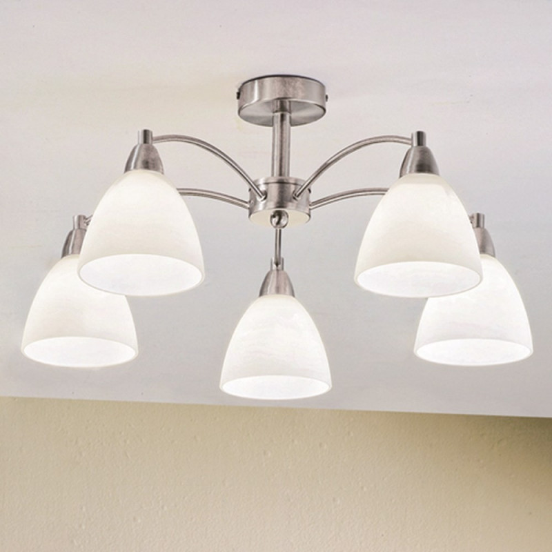 Orion ausserst satin ceiling light lighting deluxe orion ausserst satin chrome ceiling light aloadofball Choice Image