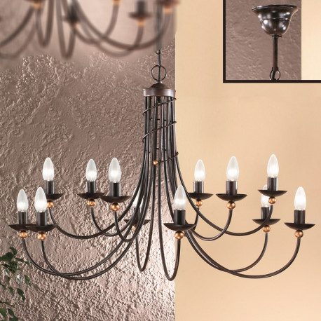 Orion Isper Antique Chandelier