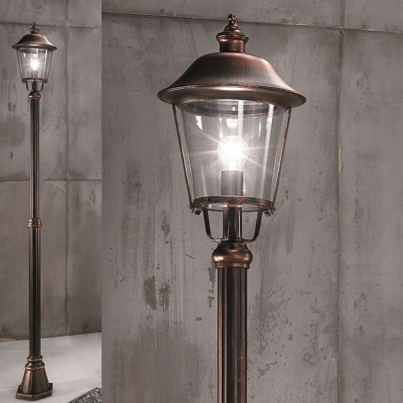 Orion ruhstatt copper outdoor lamp post lighting deluxe orion ruhstatt copper outdoor lamp post aloadofball Image collections