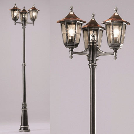 Orion Siebing Silver Outdoor Lamp-post