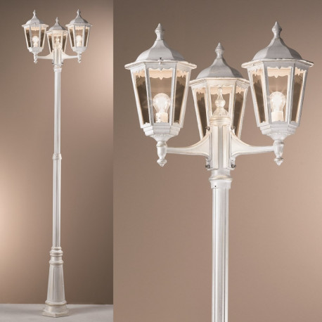 Orion Wurdach White Outdoor Lamp-post