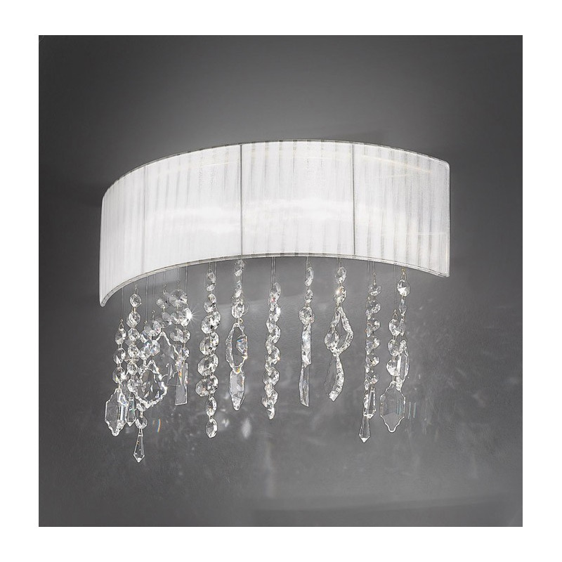 Kolarz Paralume Crystal Wall Lamp White