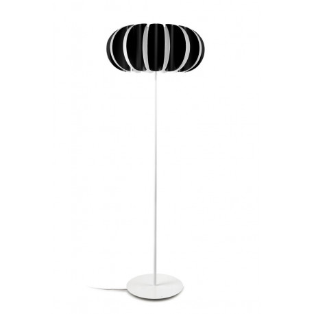 Grok Blomma Black Floor Lamp