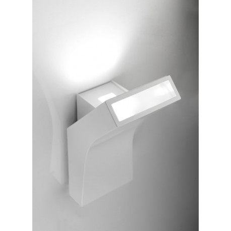 Grok Bend White Wall Light
