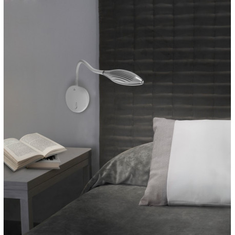 Grok Supple White Wall Light