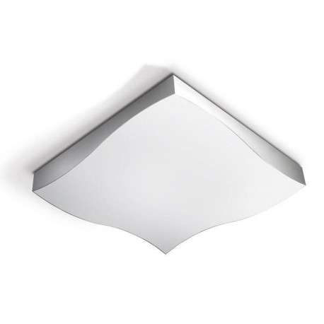 Grok LED 1 Light Large Ceiling Light Satin Aluminium