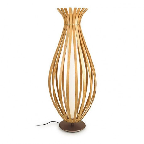 Grok Bamboo LED 1 Light Floor Lamp Wood