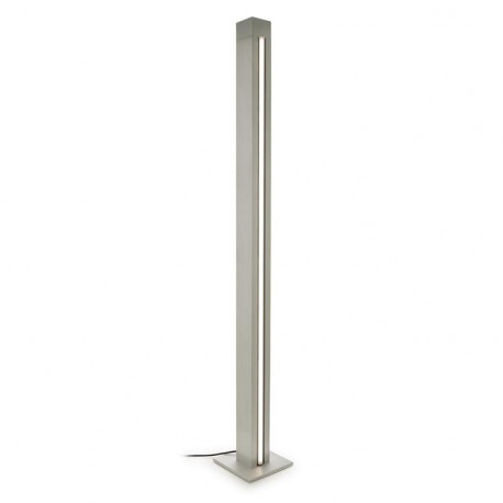 Grok LED 2 Light Adjustable Floor Lamp Satin Aluminium