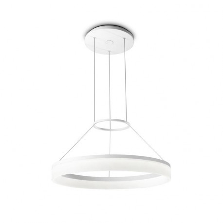 Grok Integrated LED 1 Light Dimmable Small Ceiling Pendant White