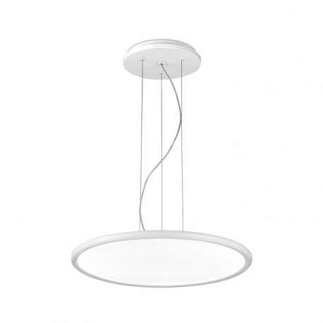 Grok Net Integrated LED 1 Light Dimmable Large Ceiling Pendant White