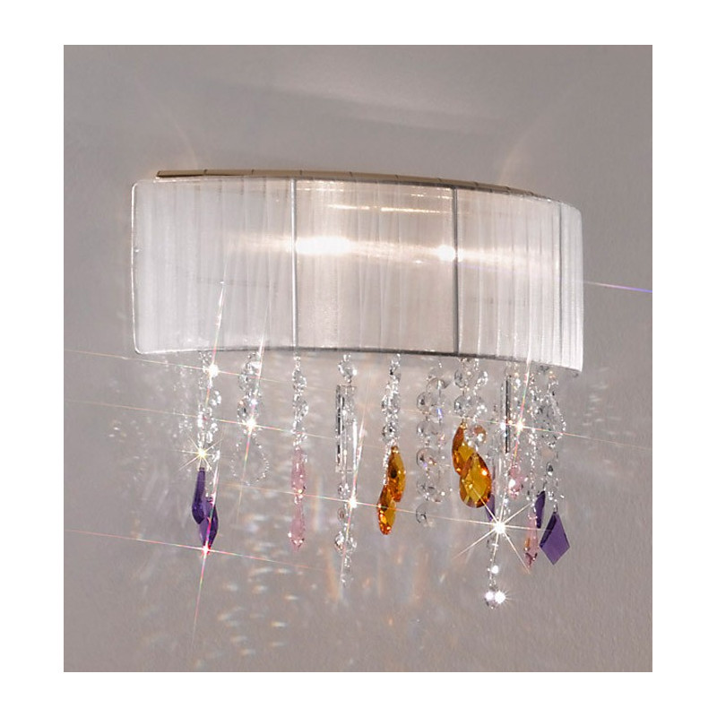 Kolarz Paralume Crystal Wall Light White